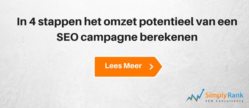 4 stappen omzet potentieel van een SEO campagne berekenen
