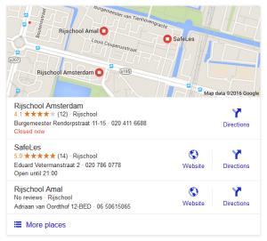 lokale google resultaten