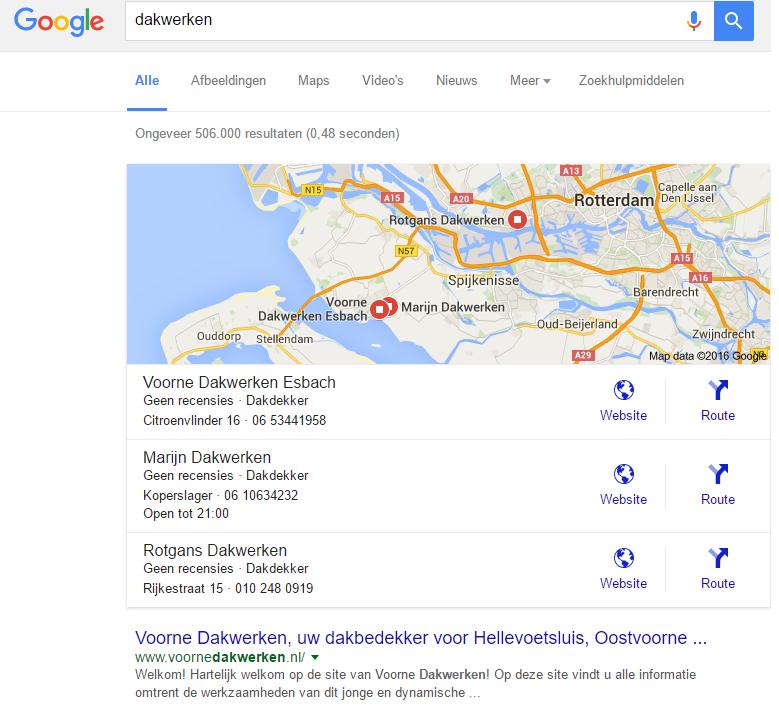zoeken naar lokale zoekwoorden