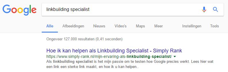Linkbuilding-specialist