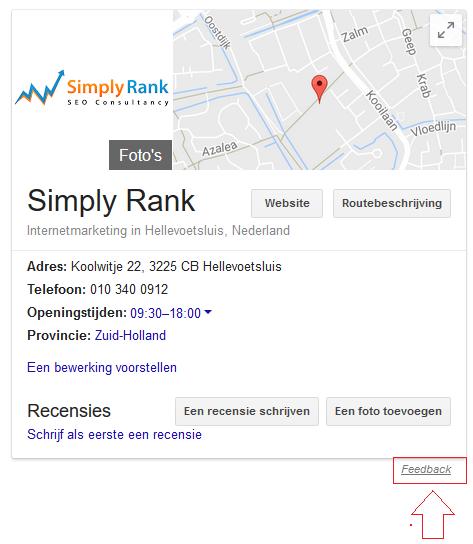 simply rank bedrijf